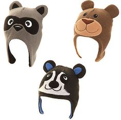 #Childrens knitted animal peru hat #fleece #lined warm winter kids hat racoon bea,  View more on the LINK: http://www.zeppy.io/product/gb/2/281208502714/