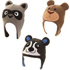 777f56300ef Childrens Knitted Animal Peru Hat Fleece Lined Warm Winter Kids Hat Racoon  Bear