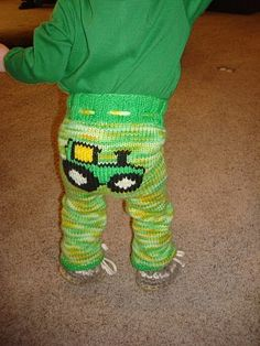 My Kenton in his custom John Deere Longies!