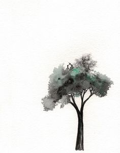 Hey, I found this really awesome Etsy listing at https://www.etsy.com/listing/154788452/minimal-tree-watercolor-print