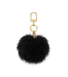 Tory Burch Fur Pom-pom Key Fob