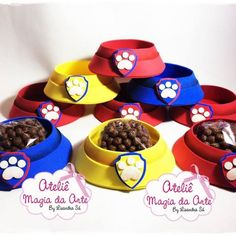 If you like PAW Patrol or the canine patrol, you're in luck today we bring you several decorating ideas for PAW Patrol's birthday or the c. Paw Patrol Birthday Decorations, Paw Patrol Party Favors, Sky Paw Patrol, Paw Patrol Pups, Cumple Paw Patrol, Boy Birthday, Toy Story, Ideas Para, Barbie