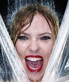 Scarlett Johansson Goes Psycho On The Cover Of V {Full of energy! <3 <3 <3}