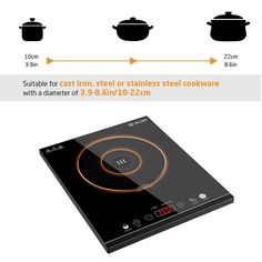 Portable Induction Cooktop iSiLER Sensor Touch Electric Induction Cooker Cooktop with Kids Safety Lock Countertop Burner Suitable for Cast Iron Stainless Steel Cookware * Details can be found by clicking on the image. (This is an affiliate link) Stove Range Hood, Stainless Steel Range Hood, Chen, Induction Stove, Specialty Appliances, Kit, Mixers, Fun Cooking, Child Safety