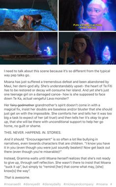 "YEEEEEEEESSSSSS. I'd also like to add that I think Valka does this with Hiccup in HTTYD2, as well. She never tells him, ""You need to go fight Drago and get Toothless back!"" She didn't say that. Instead, she comforted him and helped him regain confidence. Astrid did the same in HTTYD1- she never told Hiccup to do anything. She simply asked, ""So what're you going to do about it?"""
