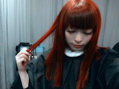 November 29 PM] It's dark (top) November 29 PM] My hair is orange now. Kyary Pamyu Pamyu, Cute Photos, Music Videos, Disney Characters, Fictional Characters, Hair Color, Kawaii, Disney Princess, Hair Styles