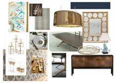 Saved by Suzy: Mood Board Monday: Woodsy Glam Dining Room