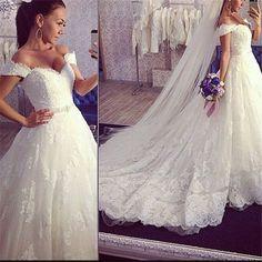 W23 2016 new sexy v neck white beaded lace ball gown wedding dress bridal gowns vestido de noiva robe de mariage