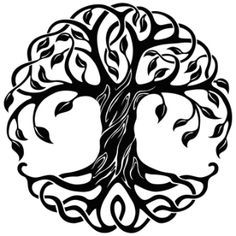 Tree of life tattoo tribal celtic knots Ideas Yggdrasil Tattoo, Tree Of Life Art, Celtic Tree Of Life, Celtic Symbols, Celtic Art, Celtic Knots, Tattoo Life, Tree Of Life Tattoos, Tree Wall Art