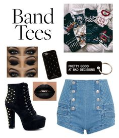 """""""Bands 🖤"""" by sabrinawimer on Polyvore featuring Pierre Balmain, Kate Spade and Various Projects"""