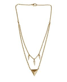 ROSLI gold spike necklace | EDGE OF EMBER