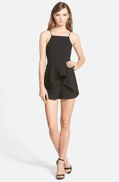 Finders Keepers the Label 'Speakerbox' Strappy Ruffle Romper available at #Nordstrom