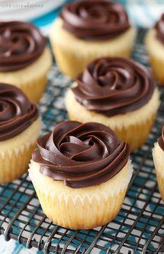Boston Cream Pie Cupcakes - Life Love and Sugar