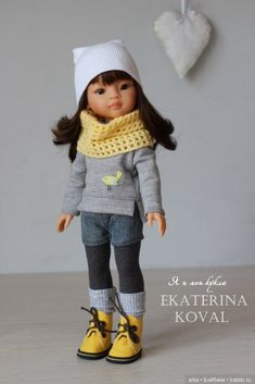 Knitting Dolls Clothes, Baby Doll Clothes, Baby Dolls, Disney Animator Doll, Disney Dolls, Knitted Romper, Knitted Dolls, Beautiful Crochet, Beautiful Dolls