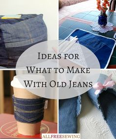 Never resort to tossing out or donating your old jeans again! Here are 40+ projects to reuse, refashion, and upcycle your used denim.