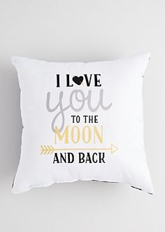 Metallic To the Moon Pillow Pillows Cute Pillows, Diy Pillows, Decorative Pillows, Throw Pillows, Cushions, Pillow Ideas, Teen Bedroom, Dream Bedroom, Bedroom Decor