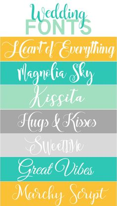 Wedding signs cute fonts 51 ideas for 2019 Free Svg Fonts, Free Fonts For Cricut, Free Cursive Fonts, Handwritten Fonts, Font Free, Calligraphy Fonts, Best Handwriting Fonts, Cricut Ideas, Free Monogram
