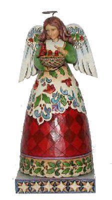 "Jim Shore ""Blessed Nest"" Christmas Angel with Cardinals by Jim Shore Heartwood Creek"