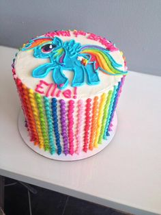 Rainbow Dash  rainbow cake... HayleyCakes and Cookies -- AUSTIN, TX