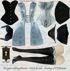 EKDuncan - My Fanciful Muse: Gothic Girls Paper Doll Dress Up for Halloween