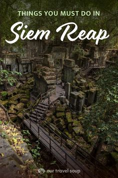 The Best 3 Days in Siem Reap - Siem Reap is an amazing with beautiful ancient temples at Angkor Wat, and vibrant nightlife on Pub - Cambodia Itinerary, Cambodia Beaches, Cambodia Travel, Siem Reap, Asia Travel, Japan Travel, Travel Tips, Angkor Temple, Koh Tao