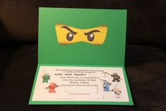 lego ninjago invitations | our lego ninjago birthday party, Einladungen