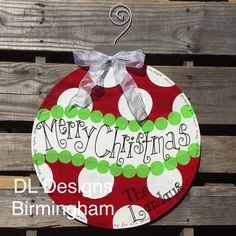 **2 available for immediate shipping without personalization. This ornament is the perfect door hanger or decoration for Christmas. Each