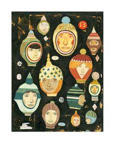 (holiday card / Image of Balaclavas - Bjorn Rune Lie) Collages, Isometric Design, Bizarre Art, Artist Sketchbook, Love Illustration, Branding, Fun Prints, Vintage Posters, Print Patterns