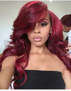 Amethyst Grade Brazilian Virgin Human Hair Ombre Burgundy Lace Front Wigs With Density Glueless Loose Wavy Full Lace Human Hair Wigs For Black Women full lace wig) Wig Hairstyles, Straight Hairstyles, Casual Hairstyles, Medium Hairstyles, Latest Hairstyles, Wedding Hairstyles, Hair Colorful, Curly Hair Styles, Natural Hair Styles