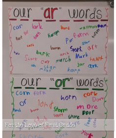 For the Love of First Grade: Phonics, Bossy R, and a giveaway!