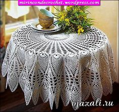 Crochet doily - crochet doilies - Crochet tablecloth - Home decor - White crochet doilies - Handmade tablecloth by DoiliesbyElena on Etsy Crochet Diagram, Filet Crochet, Crochet Motif, Crochet Doilies, Crochet Lace, Russian Crochet, Chrochet, Crochet Tablecloth Pattern, Crochet Bedspread
