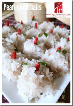 Glutinous Rice Coated Meatballs aka Pearl Meatballs (珍珠丸子)    #guaishushu #kenneth_goh    #珍珠丸子