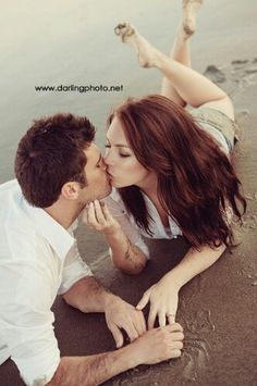 Paar Kuss Strand