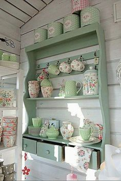 Beautiful For my dining room! Shabby Chic Kitchen Shelf home kitchen decorate shabby chic teacups shelf display design ideas interior design The post For my dining room! Shabby Chic Kitchen S . Shabby Chic Living Room, Shabby Chic Dresser, Shabby Chic Kitchen Decor, Chic Kitchen, Shabby Chic Kitchen Shelves, Chic Decor, Chic Bathrooms, Chic Bedroom, Chic Home Decor