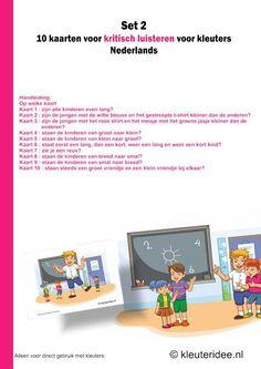 Handleiding kritsch luisteren voor kleuters10 kaarten set 2, kleuteridee.nl , users manual critical listening preschool 10 cards for prescho...