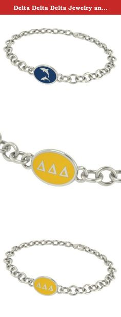 Delta Delta Delta Jewelry and Silver Bracelets. Our Delta Delta Delta sorority jewelry and bracelets are made in solid sterling silver with a high quality sterling silver enameled charm. Our bracelets have the finest detail and are the highest quality of any Delta Delta Delta sorority bracelet available. In stock for fast shipping and if for some reason you don't like it? Send the bracelet back for a full refund..... Delta Delta Delta Silver Jewelry - Silver Link Bracelet.... Metal…