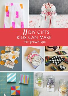 Pretty and functional handmade gifts kids can make that grown-ups will appreciate and love.