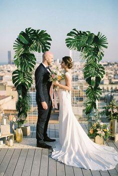 É tendência: Planta Costela de Adão na decoração do casamento