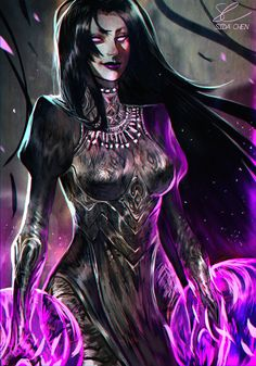 By Junedays (DC Comics - Blackfire) Comic Book Characters, Marvel Characters, Comic Books, Alien Queen, Mileena, Black Fire, Comics Girls, Marvel Dc Comics, Character Design Inspiration