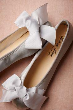 Satin Ballet Flats from BHLDN