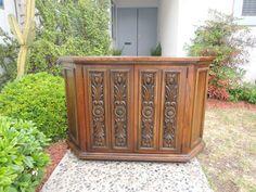 MID CENTURY MODERN Lane Altavista Angled Console Table or Media Stand (Los Angeles)