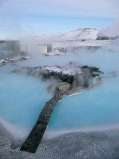 Blue Lagoon. Attraction in Reykjavik, Iceland. Looks pretty amazing!