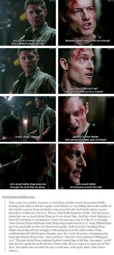 """(gif set) Dean and Gadreel     Supernatural 9x18 """"Meta Fiction"""""""