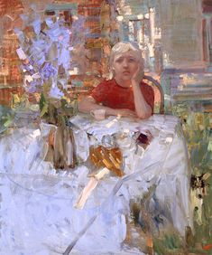 """Sad day"". Bato Dugarzhapov. Russian artist b. 1966. Oil on canvas."