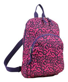 Take a look at this Fuel by Eastsport Pink & Black Leopard Mini Backpack by Fuel by Eastsport & Hot Focus on #zulily today!