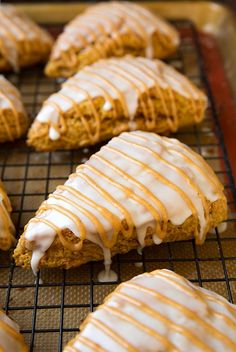 Pumpkin Scones {Starbucks Copycat} ~ Perfect Breakfast or Brunch Recipe. Click through for recipe!