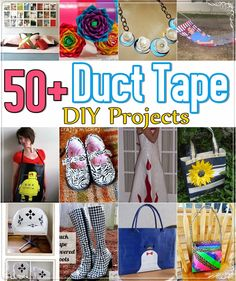 Over 50 Duct Tape DIY Projects