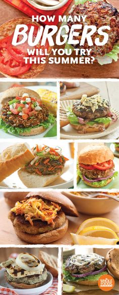 Check out this collection... So many great burger recipes, so little time! #summer #burger #recipe