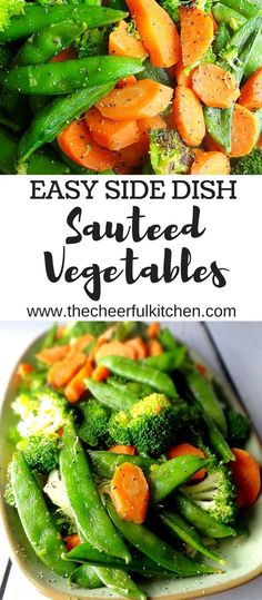 This simple and easy side dish of sauteed vegetables is healthy and delicious. Get the recipe from The Cheerful Kitchen.