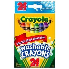 Classic crayon set for bigger kids - washable! Crayola 24ct Washable Crayons $5